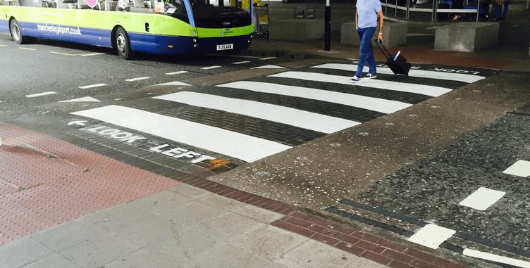 Pedestrian Crossing at Terminal 2 Manchester Airport - June 2015