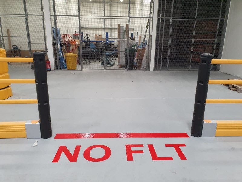 Manchester Airport - Hatching and Line Marking in New Hangar - December 2020